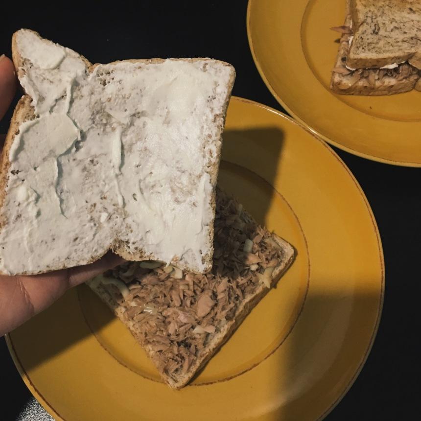 Cajun Tuna sandwich with Cream cheese